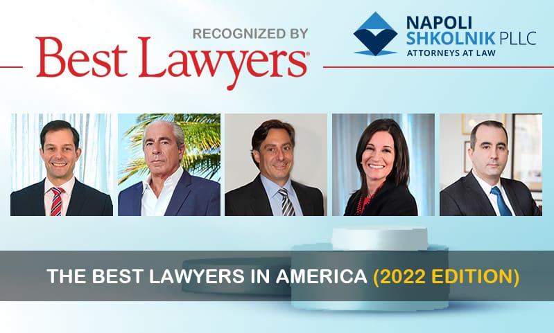 Best Lawyers in America Recognizes Napoli Shkolnik Lawyers