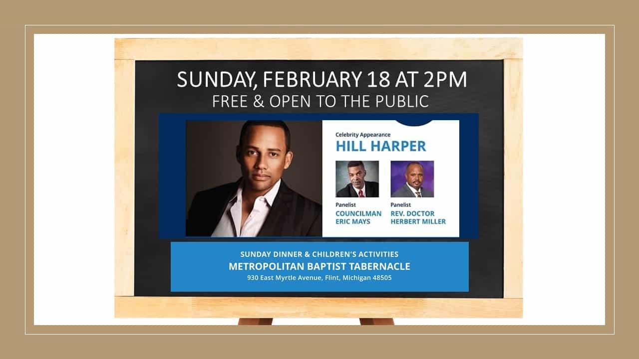 Upcoming Flint Town Hall Meeting