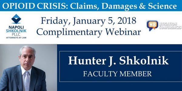 Partner Hunter Shkolnik: Speaker on Opioid Crisis