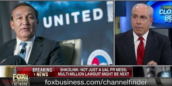 Hunter Shkolnik on Fox Business About United Airlines Debacle