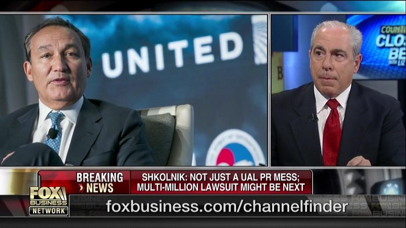Hunter Shkolnik on Fox Business About United Airlines