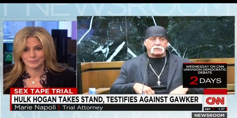 Marie Napoli on CNN News Room and CBS News regarding Hulk Hogan's Trial