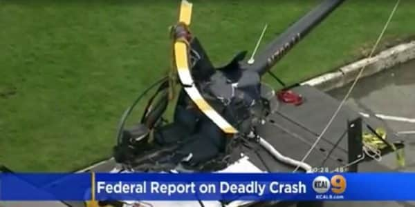 Robinson Helicopter Crash Kills 2, Not Manufacturer First