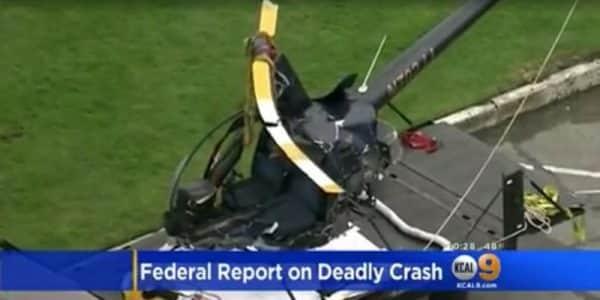 Robinson Helicopter Crash Kills 2, Not Manufacturer First