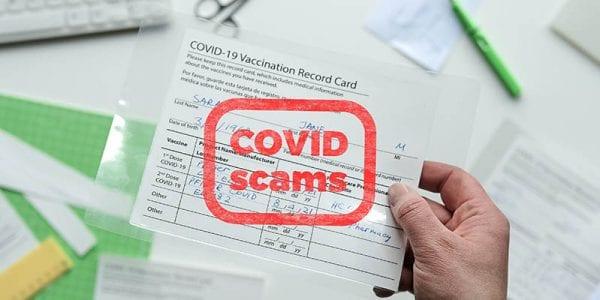 Coronavirus Vaccination Card Scams