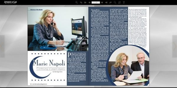 Attorney at Law Magazine Cover Story Features Marie Napoli