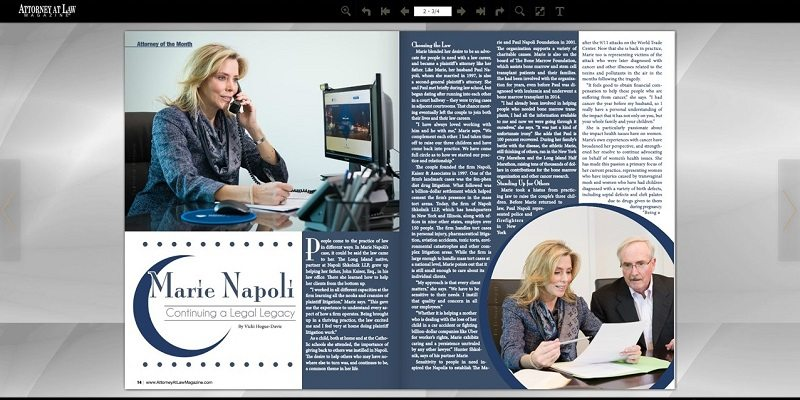 Marie Napoli Featured in Attorney at Law Magazine